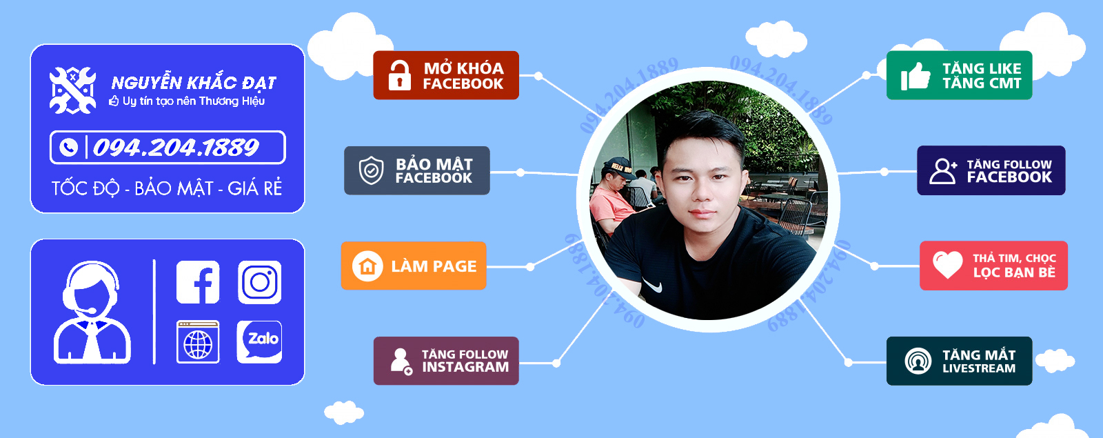 Banner dịch vụ facebook